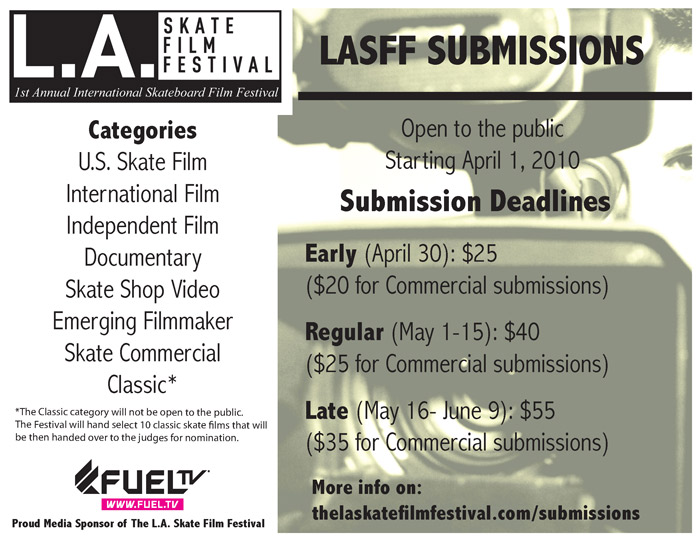 LASFF submission flyer