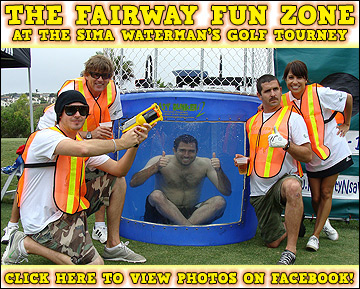 The Fairway Fun Zone at the SIMA Waterman's Golf Tourney