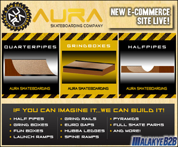 New Aura Skateboarding Website Live!