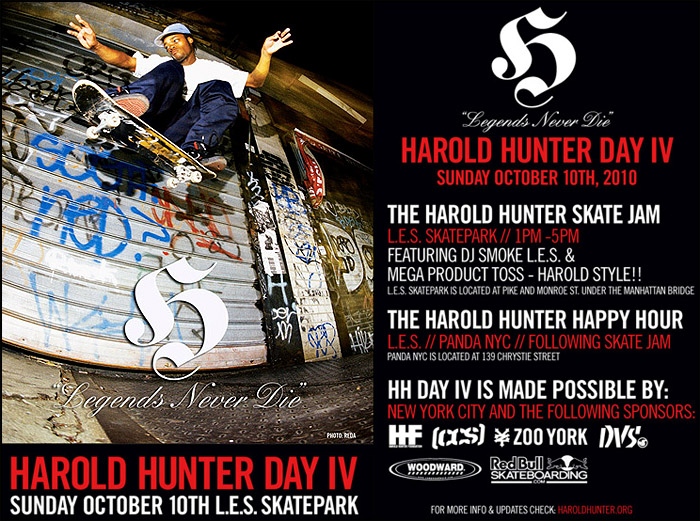 Fourth Annual Harold Hunter Day October 10 in the NYC
