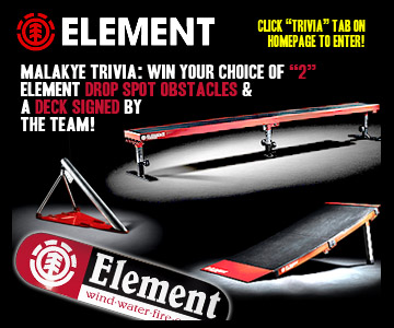 "Click ""Trivia!"" tab on homepage of Malakye.com to enter!"
