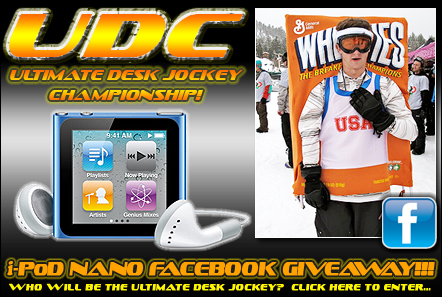 Who Will be the Ultimate Desk Jockey?  Visit Facebook to Enter!