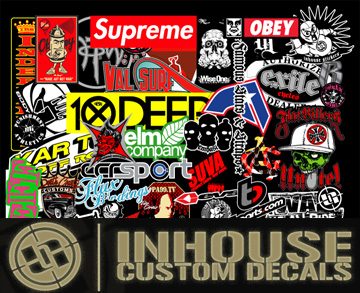 In House Custom Decals on B2B!